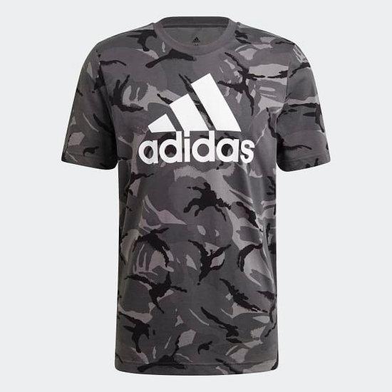 Adidas T-Shirt CAMO AOP Grau