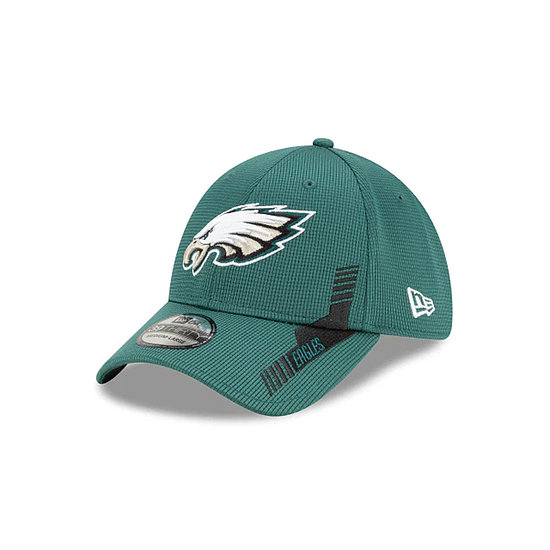 New Era Philadelphia Eagles Cap Sideline Heim 39THIRTY grün