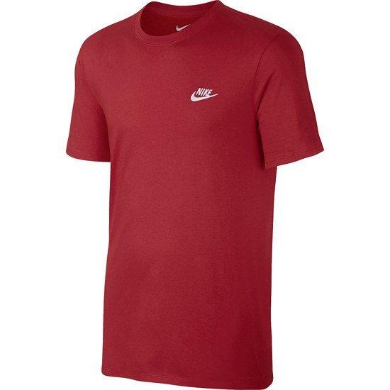Nike T-Shirt Club Futura rot/weiß