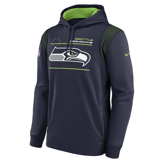 Nike Seattle Seahawks Hoodie Therma PO navy/grün