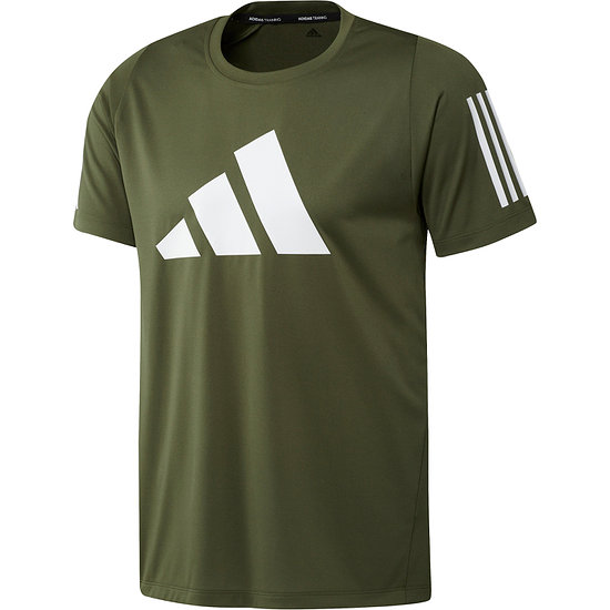 Adidas T-Shirt 3 Balken Oliv