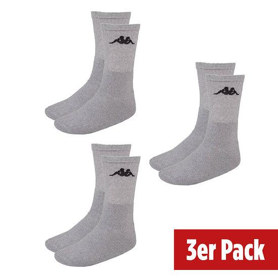 Kappa Sportsocken 3er Pack Grau