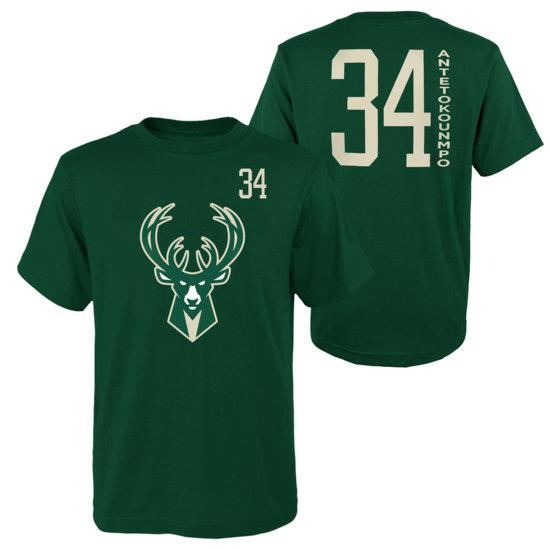 Outerstuff EMEA Milwaukee Bucks T-Shirt Giannis Standing Tall grün