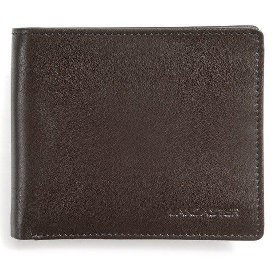 Lancaster Herren Geldbörse ohne Münzfach braun