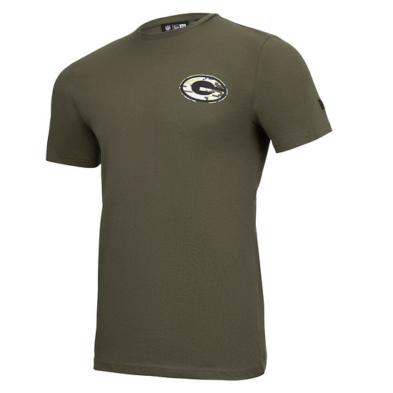 New Era Green Bay Packers T-Shirt Camo Injection grün