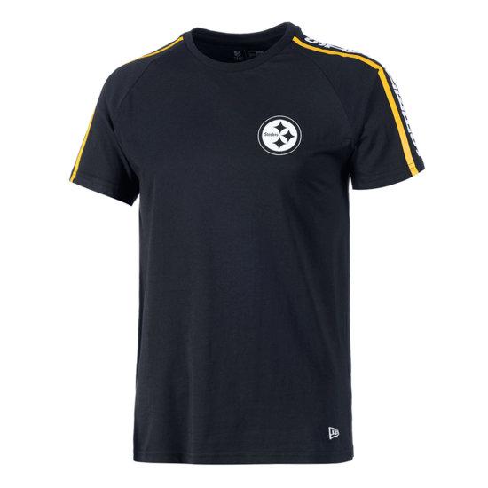 New Era Pittsburgh Steelers T-Shirt Raglan Shoulder Print schwarz