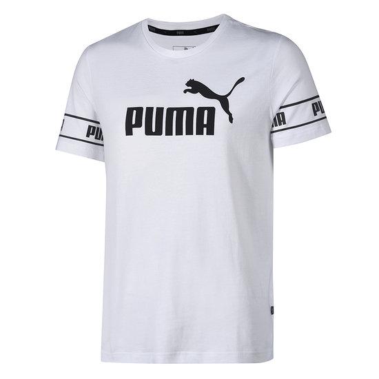 Puma T-Shirt Big Logo Amplified Weiß