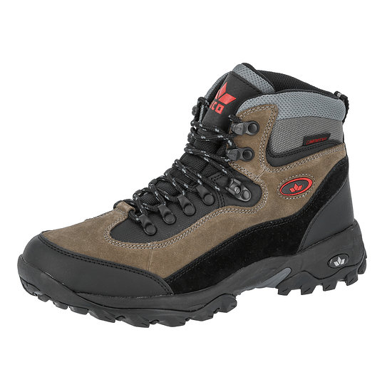 Lico Trekking Stiefel Milan schwarz/grau/rot