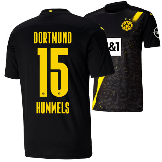 Puma Borussia Dortmund Auswärts Trikot HUMMELS 2020/2021 Kinder
