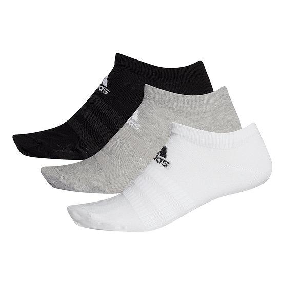 Adidas Sportsocken 3er Pack LIGHT LOW Schwarz/Grau/Weiß