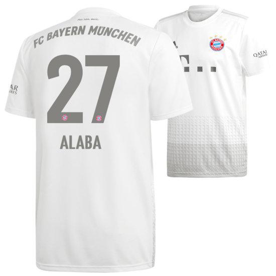 Adidas FC Bayern München Auswärts Trikot ALABA 2019/2020 Kinder