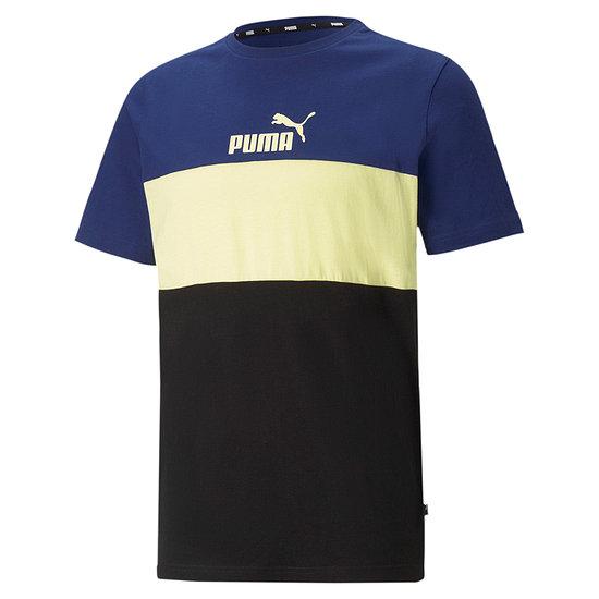 Puma T-Shirt ESS BLOCK Blau