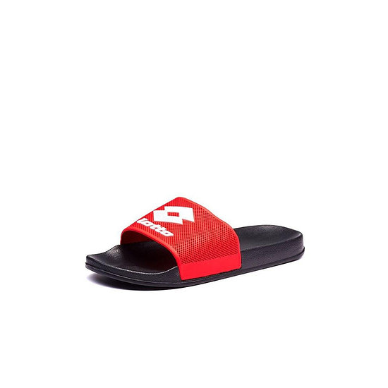 Lotto Badeschlappen Moku Slide all black/flame red