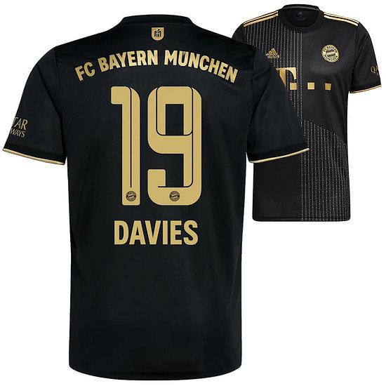 Adidas FC Bayern München Auswärts Trikot DAVIES 2021/2022 Kinder