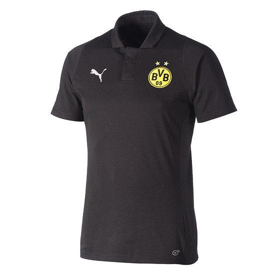 Puma Borussia Dortmund Poloshirt Casual schwarz