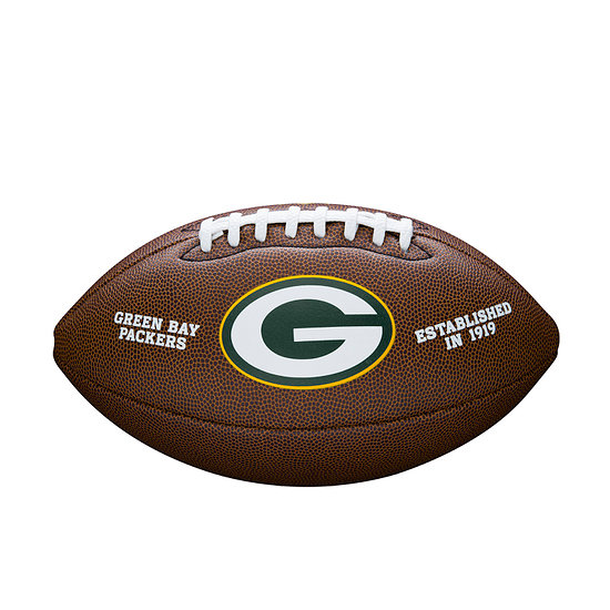 Wilson Green Bay Packers Football Team Logo braun