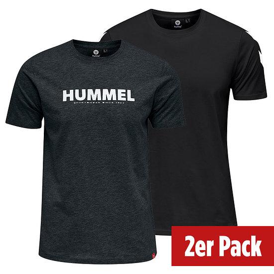 hummel 2er Set T-Shirt Legacy Mix schwarz