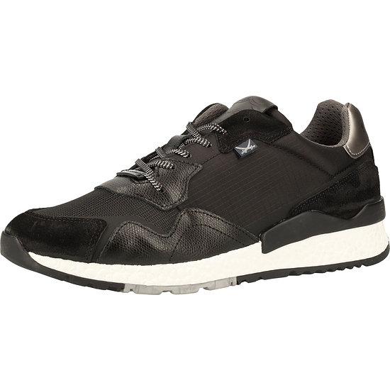 Sansibar Sneaker Leder/Textil schwarz