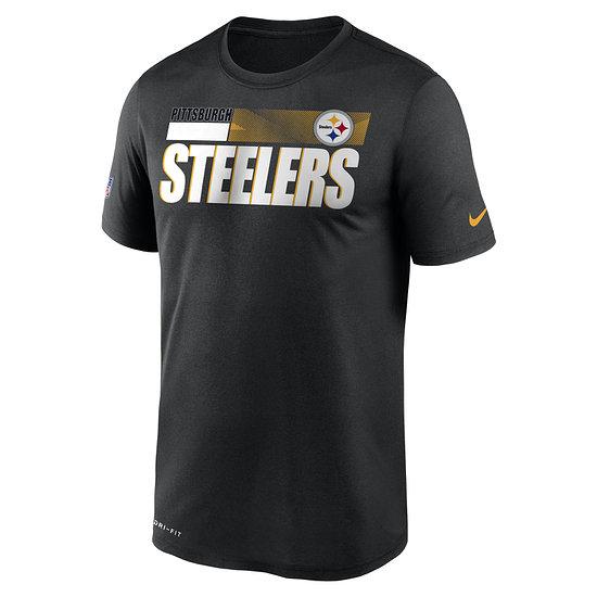 Nike Pittsburgh Steelers T-Shirt Team Name Sideline schwarz