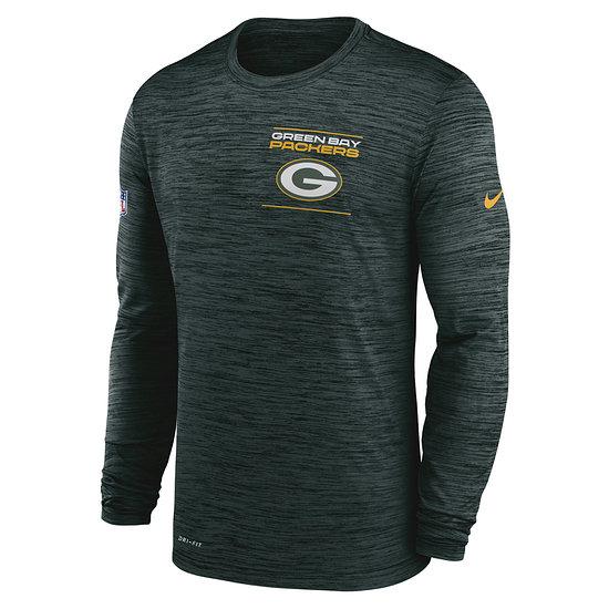 Nike Green Bay Packers Longsleeve Velocity Sideline grün