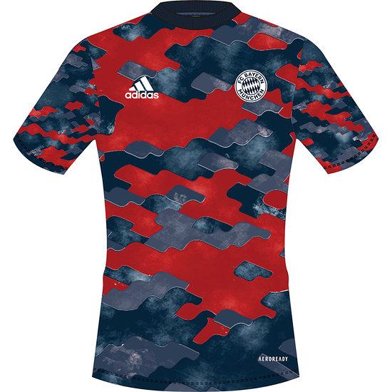 Adidas FC Bayern München Präsentations-Shirt 2021/2022 rot/grau