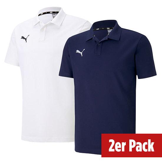 Puma 2er Set Poloshirt GOAL Freizeit Marine/Weiß