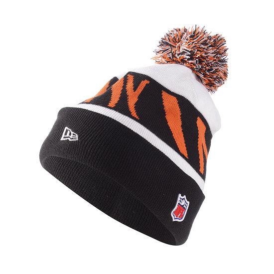 New Era Cincinnati Bengals Beanie Striped Cuff Knit orange