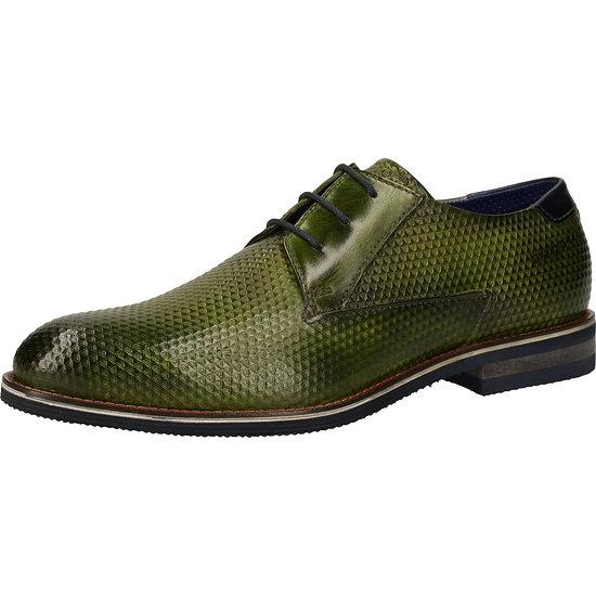 Bugatti Business Schuhe Glattleder grün