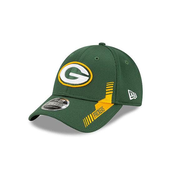 New Era Green Bay Packers Cap Sideline Heim 9FORTY Kids grün