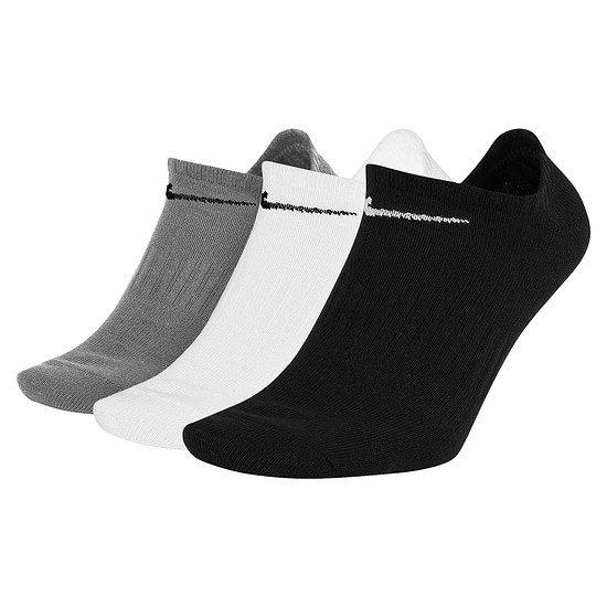 Nike Socken 3er Pack No-Show SW/Weiß/Grau