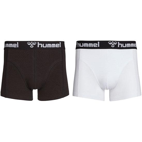hummel Boxershorts HMLMARS 2er Pack schwarz/weiß