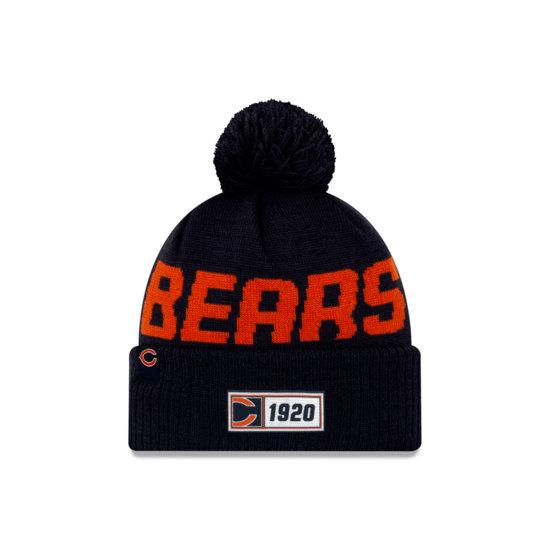 New Era Chicago Bears Beanie On Field Sport Knit RD orange