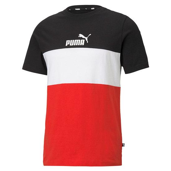 Puma T-Shirt ESS BLOCK Schwarz