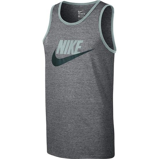 Nike Tanktop ACE Logo Grau/Dunkelgrün