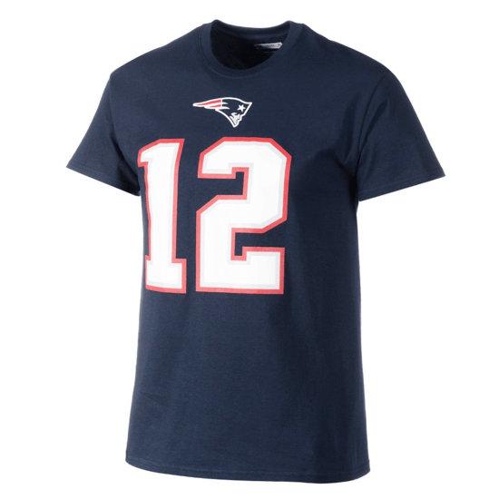 Majestic Athletic New England Patriots T-Shirt Brady Nr 12 blau