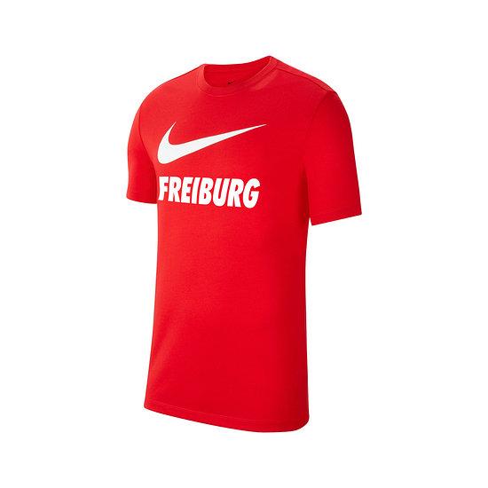 Nike SC Freiburg T-Shirt Swoosh 2021/2022 Rot