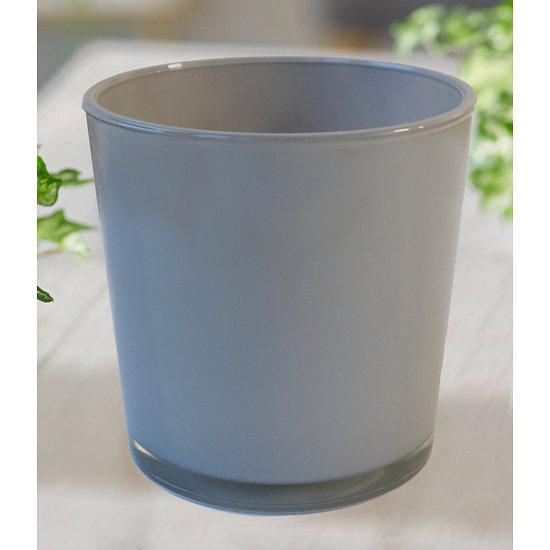 Garten-Welt Glas-Übertopf ø 19 cm grau