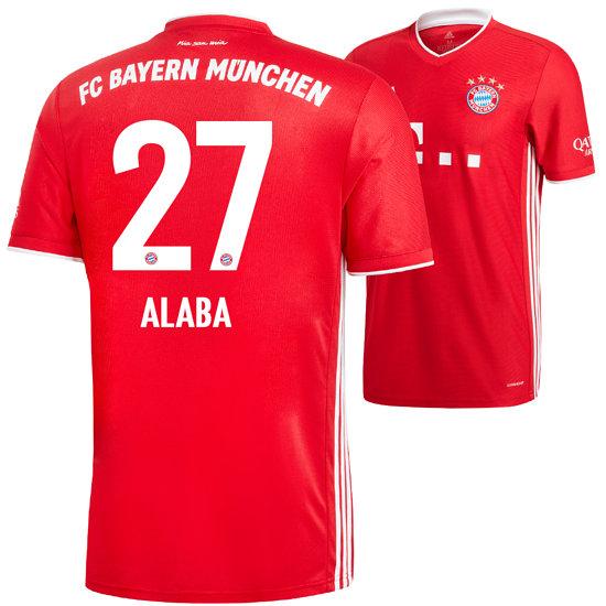 Adidas FC Bayern München Heim Trikot ALABA 2020/2021 Kinder