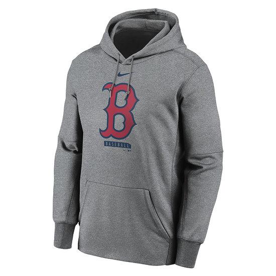 Nike Boston Red Sox Hoodie Logo Therma Performance grau