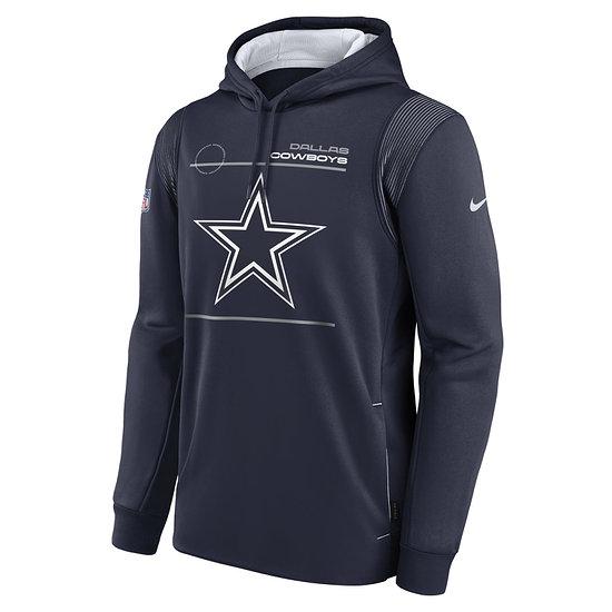 Nike Dallas Cowboys Hoodie Therma PO college navy/weiß
