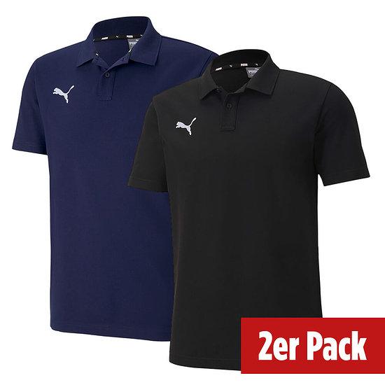 Puma 2er Set Poloshirt GOAL Freizeit Schwarz/Marine
