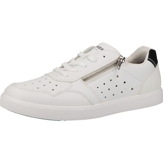 Rieker Sneaker Lederimitat weiß/schwarz
