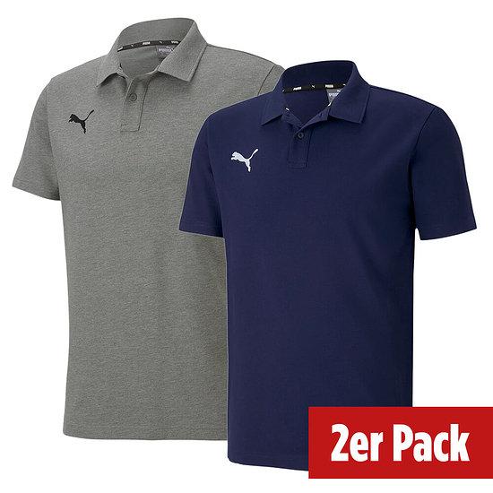 Puma 2er Set Poloshirt GOAL Freizeit Marine/Grau