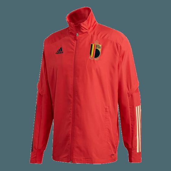 Adidas Belgien Präsentationsjacke EM 2021 Rot