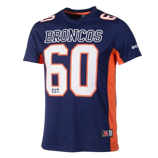 Majestic Athletic Denver Broncos T-Shirt Moro Poly Mesh orange