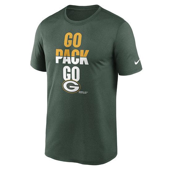 Nike Green Bay Packers T-Shirt Local Phrase Legend grün