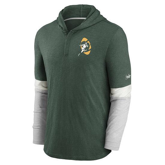 Nike Green Bay Packers Longsleeve Mascot Historic grün/silber