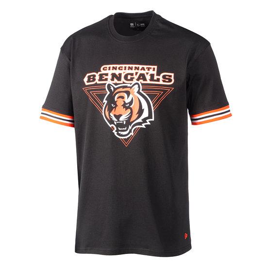 New Era Cincinnati Bengals T-Shirt Stripe schwarz