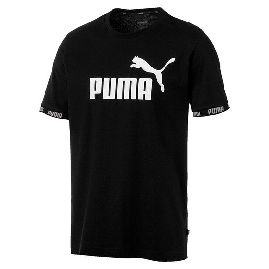 Puma T-Shirt Amplified Big Logo Schwarz