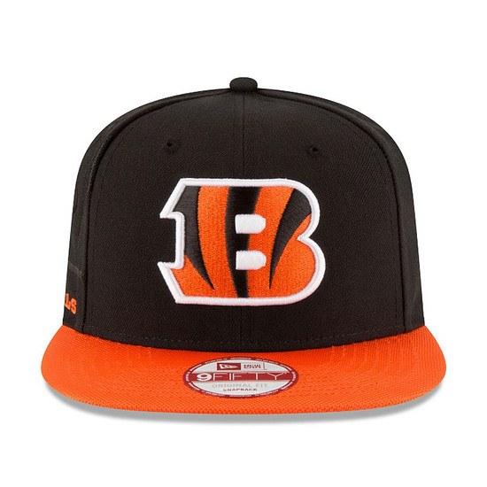 New Era Cincinnati Bengals Cap Sideline 9Fifty schwarz/orange